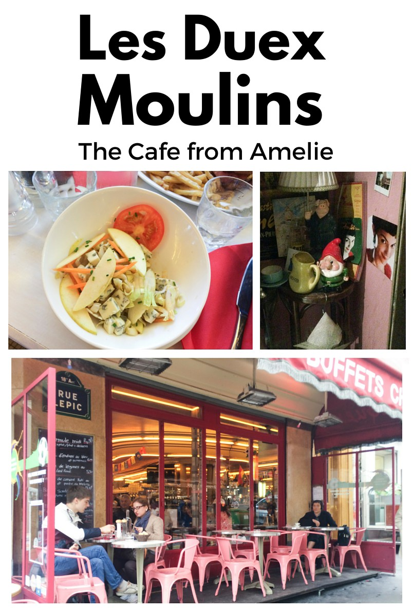 In Love with Les Duex Moulins, the Cafe from Amelie
